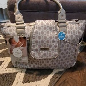 Carters carry it all tote diaper bag